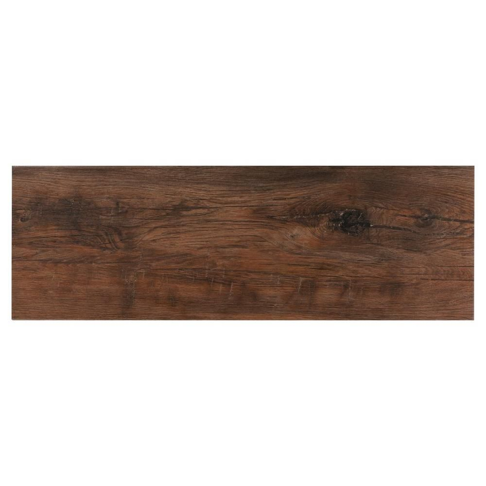 Floor And Decor Wood Look Tile Kamba Cognac Wood Plank Ceramic Tile  12Inx 36In 100190750