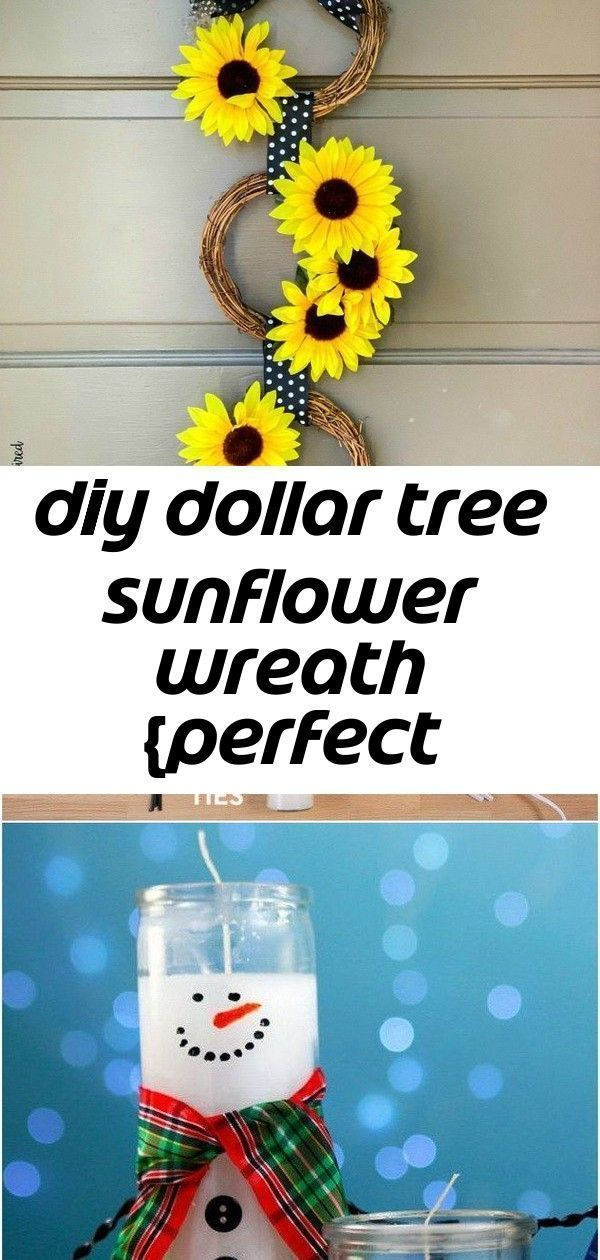 Photo of Diy dollar tree sunflower wreath perfect end-of-summer door decor! 1,  #Decor #DIY #Dollar …..