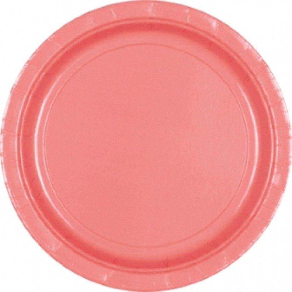 22.9cm Pretty Pink Plastic Plates | Party Supplies | Pinterest ...