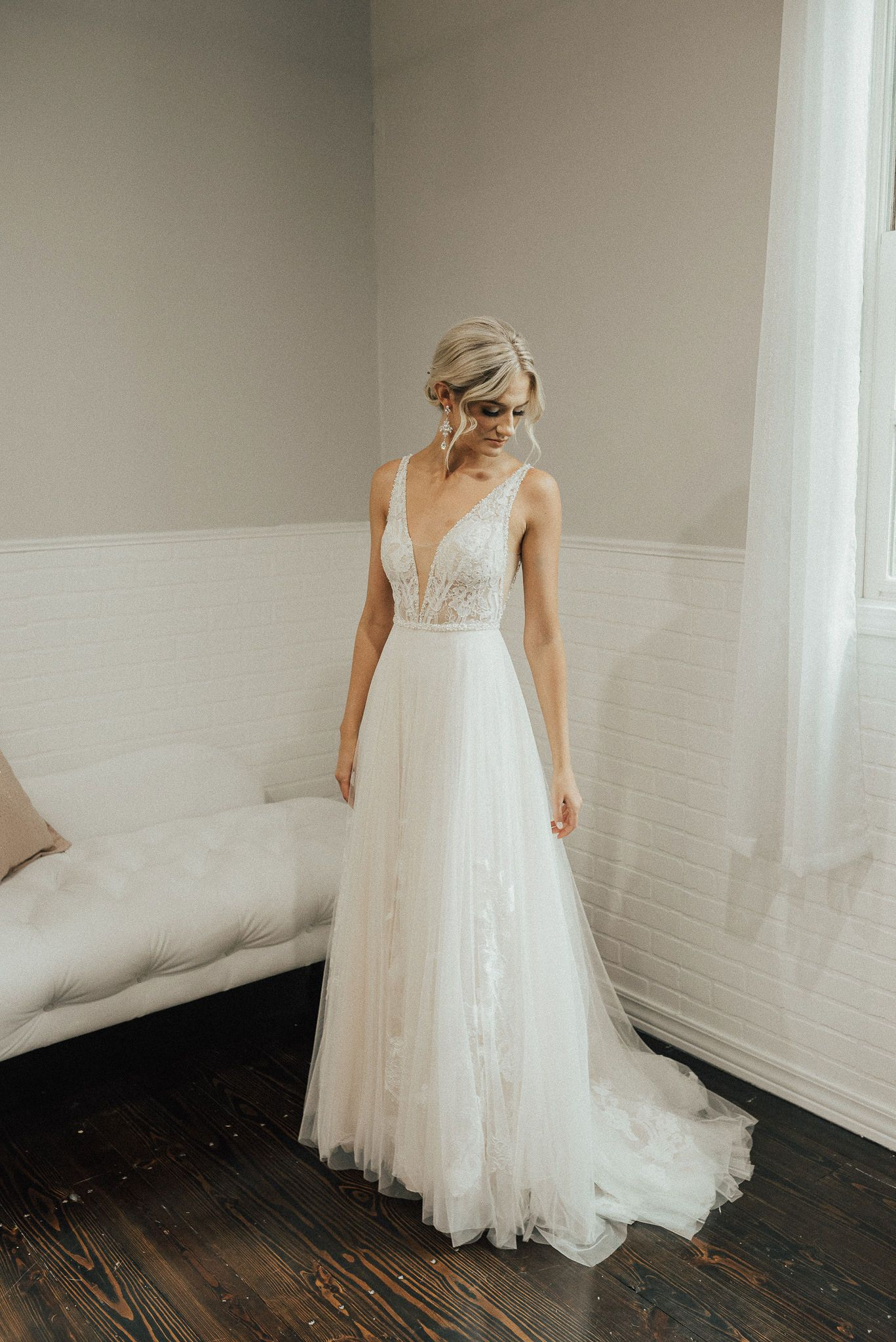 Paige Emily Hart Bridal Kansas City Wedding Dresses City Wedding Dress Wedding Dresses Illusion Neckline Wedding Dress