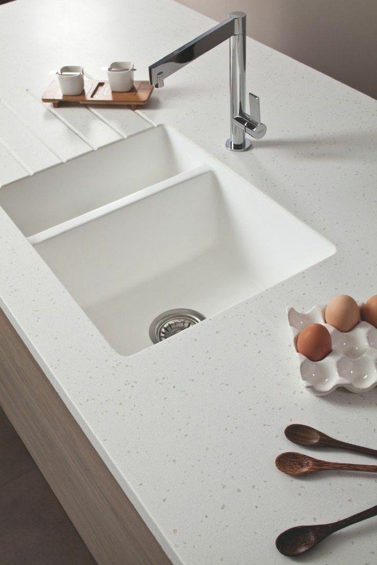 Plan De Travail En Résine Et évier Moulé Kitchen In 2019