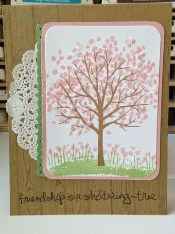 Stampin In The Sun Two For Monday With Sheltering Tree border=