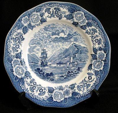 Lochs of Scotland by Royal Warwick Blue Transfer Dinner Plate England | eBay