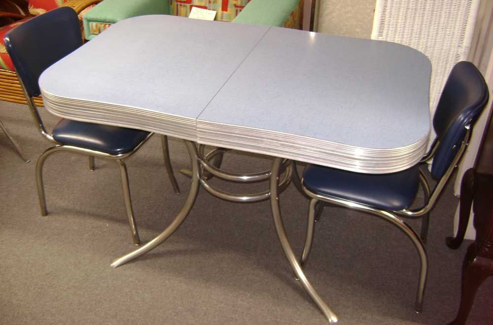 1950 Chrome Tables | 1950's Chrome Table w/Chairs No Leaf ...