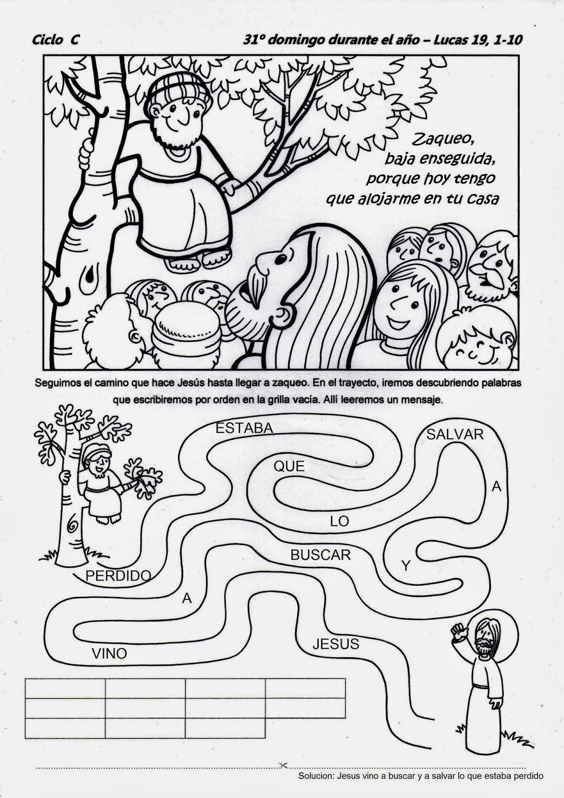 SGBlogosfera. Amigos de Jesús: HISTORIA DE ZAQUEO: ACTIVIDADES ...