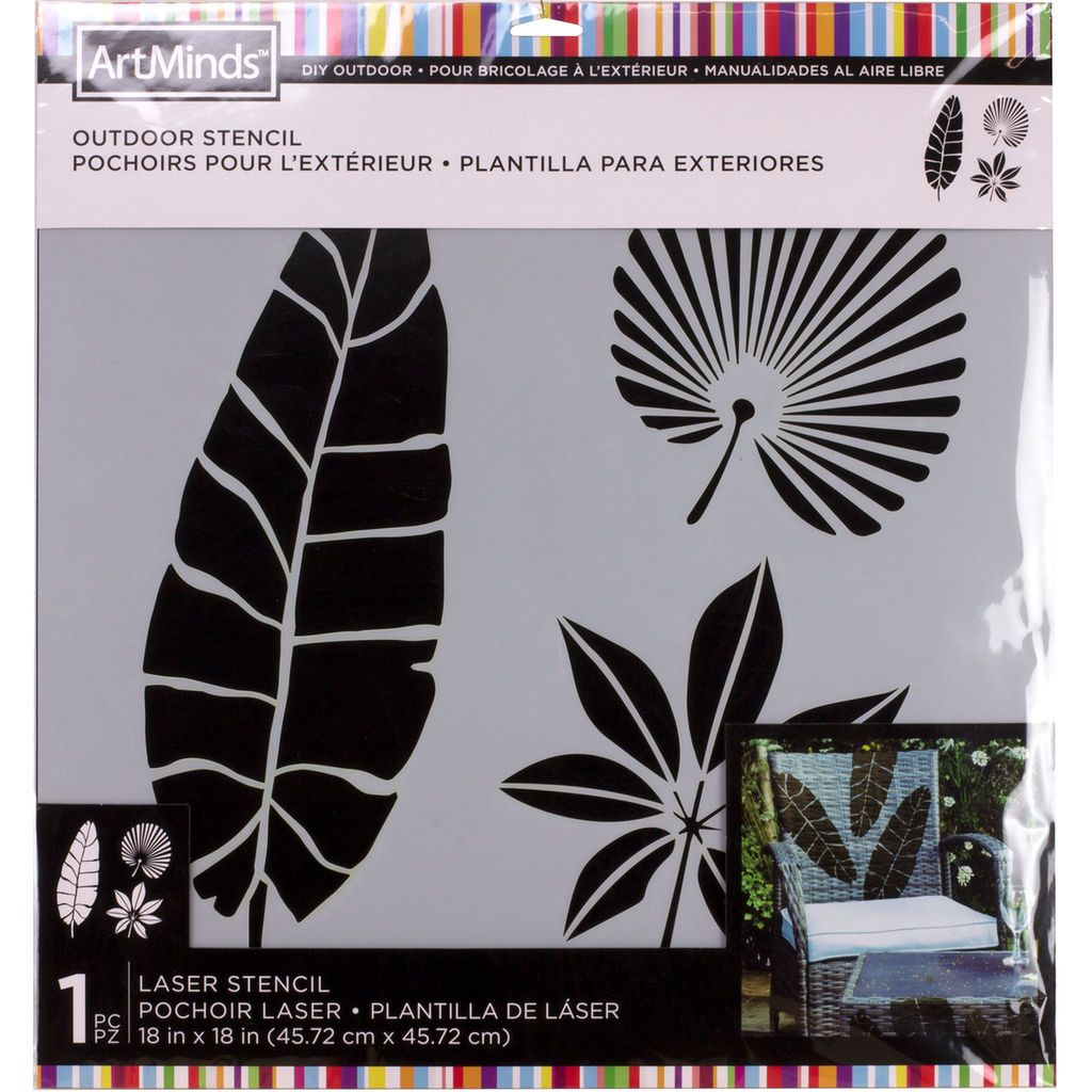 Tropical Leaves Outdoor Laser Stencil By Artminds Tropical