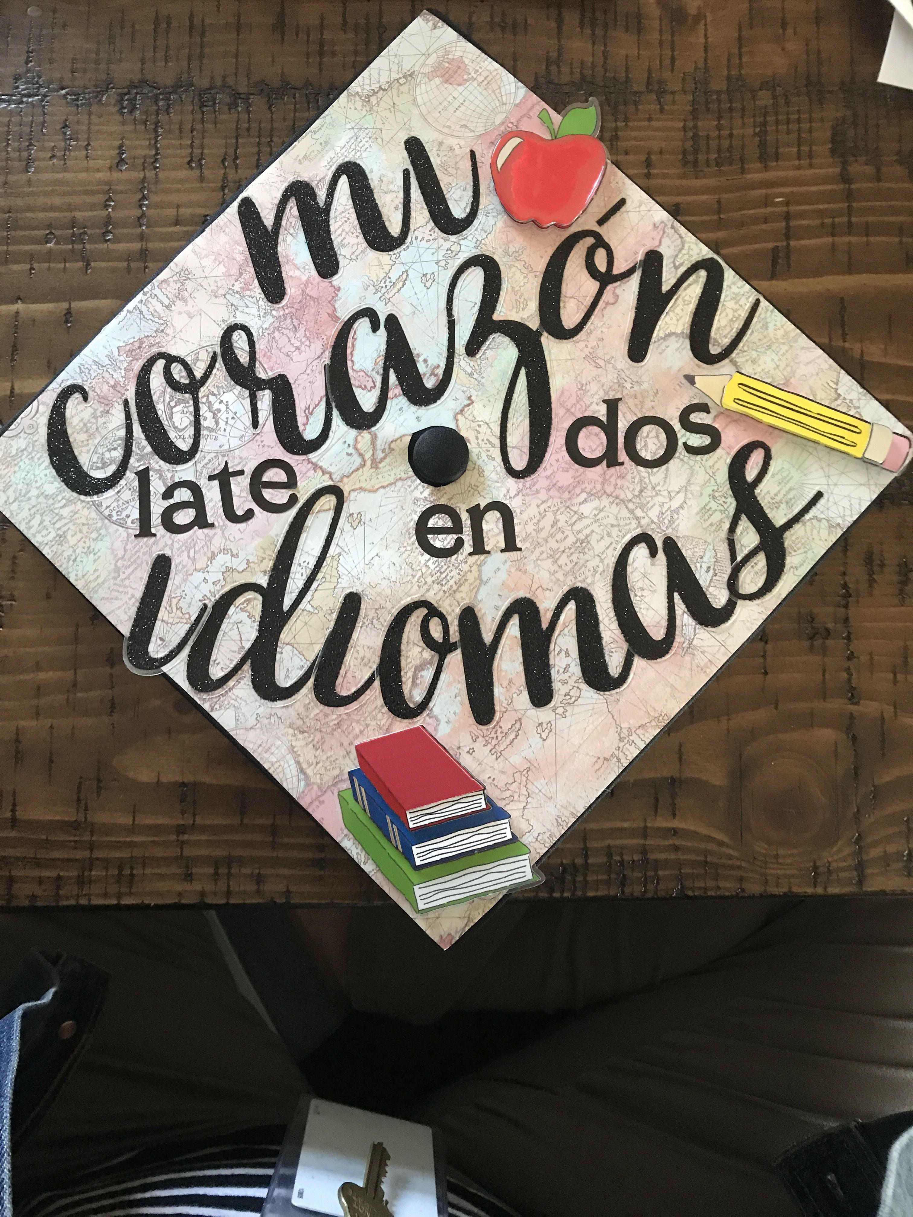 Spanish Teacher Graduation Cap Teacher Graduation Cap Graduation Cap Decoration Teacher Graduating Teacher