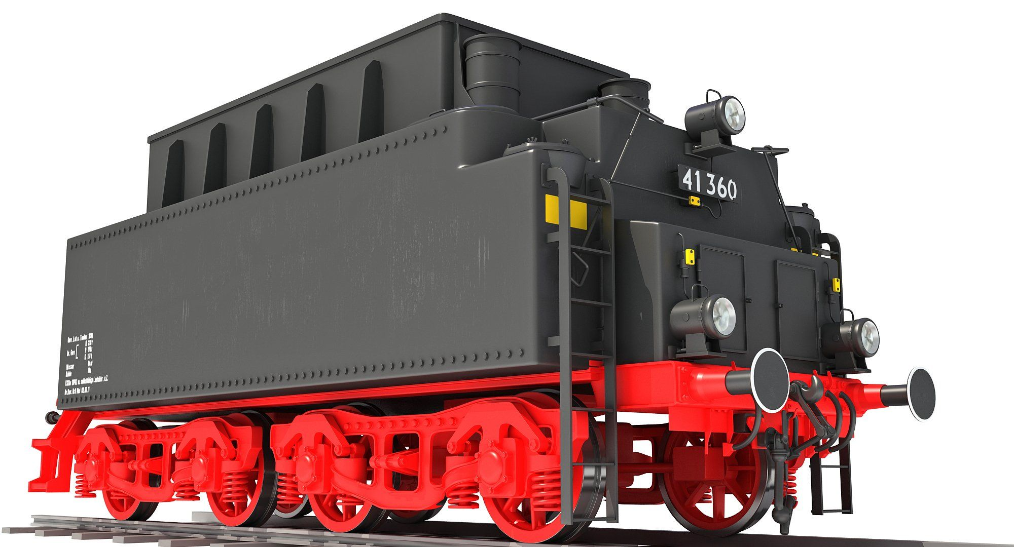 Coal Tender Train, Model, 3ds max