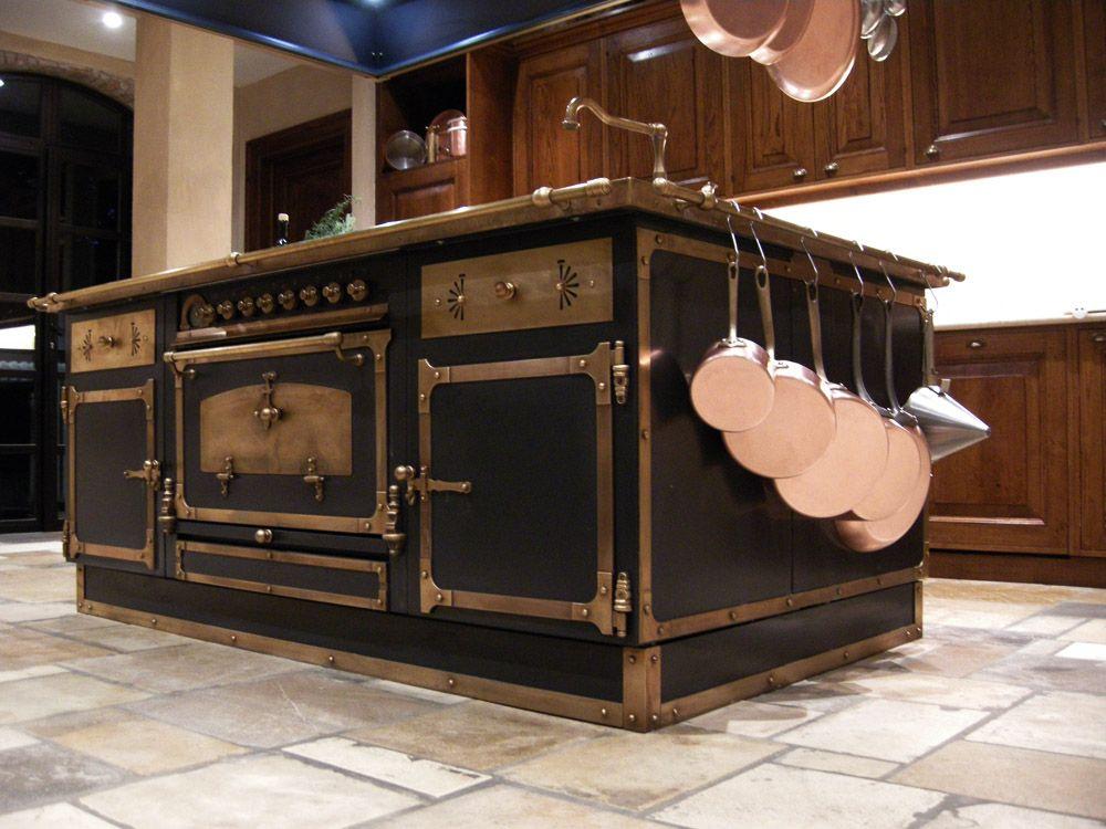 Composizione caffe 39 con finiture ottone brunito restart - Cappe per cucine in muratura ...