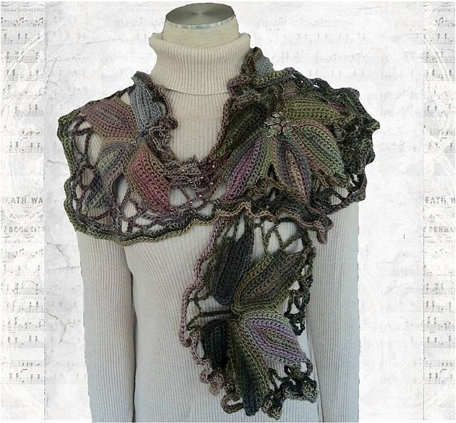 Red Heart Boutique Unforgettable in Echo | CROCHET COWLS & SCARVES ...