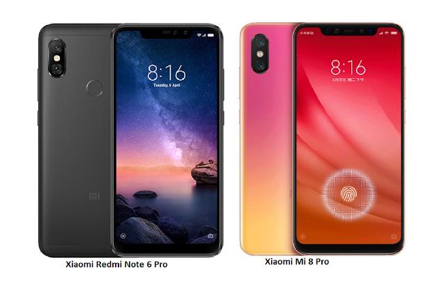 Tspn1 Xiaomi Mi 8 Pro Vs Xiaomi Redmi Note 6 Pro Compari Xiaomi Mobile Technology Mobile News