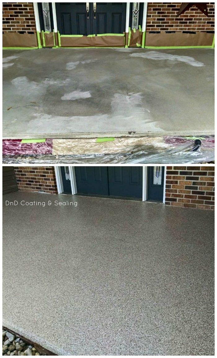 Concrete Resurfacing Porch Peoria Paint