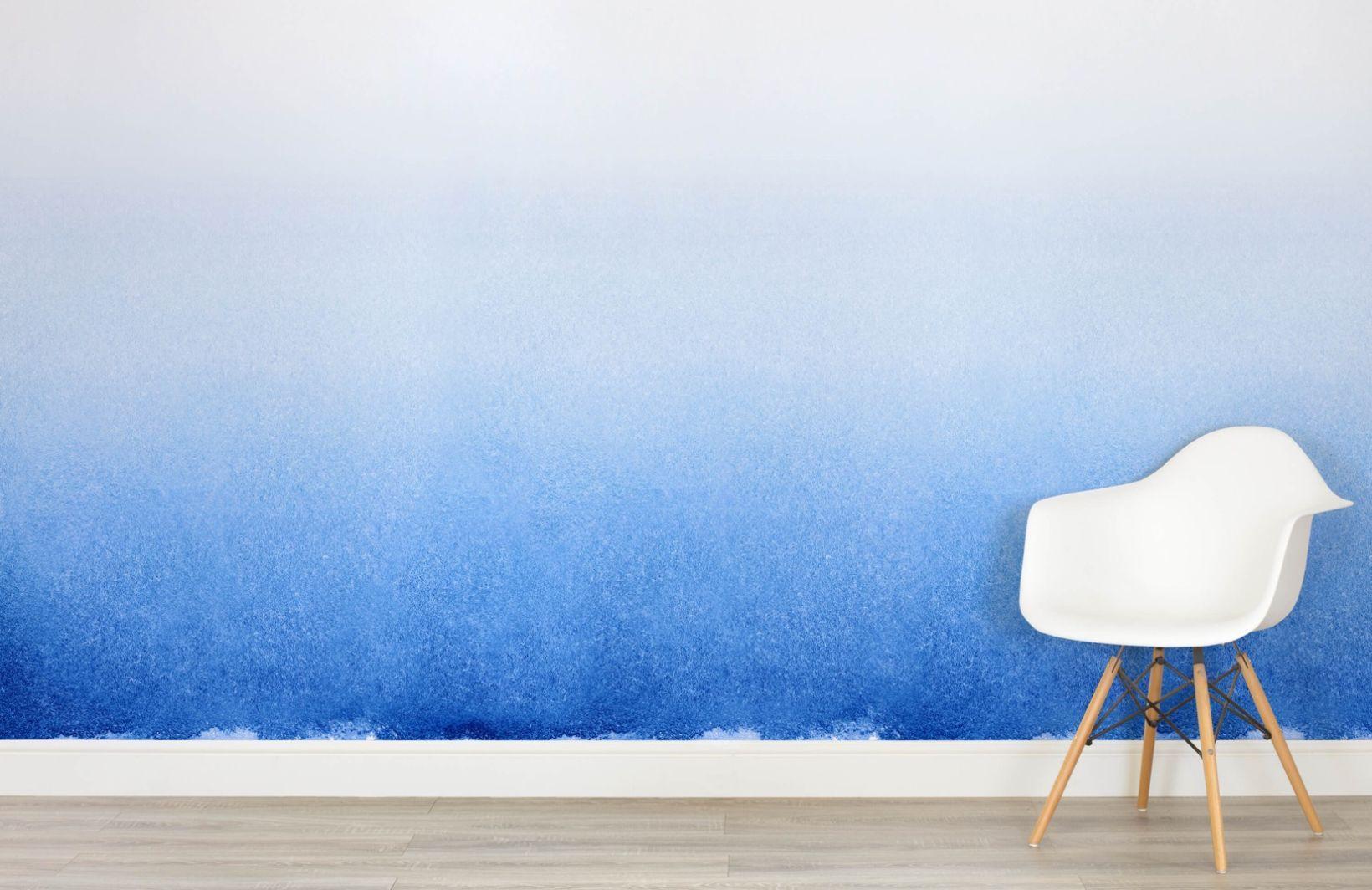 Indigo Ombre Wallpaper Mural Murals Wallpaper in 2020