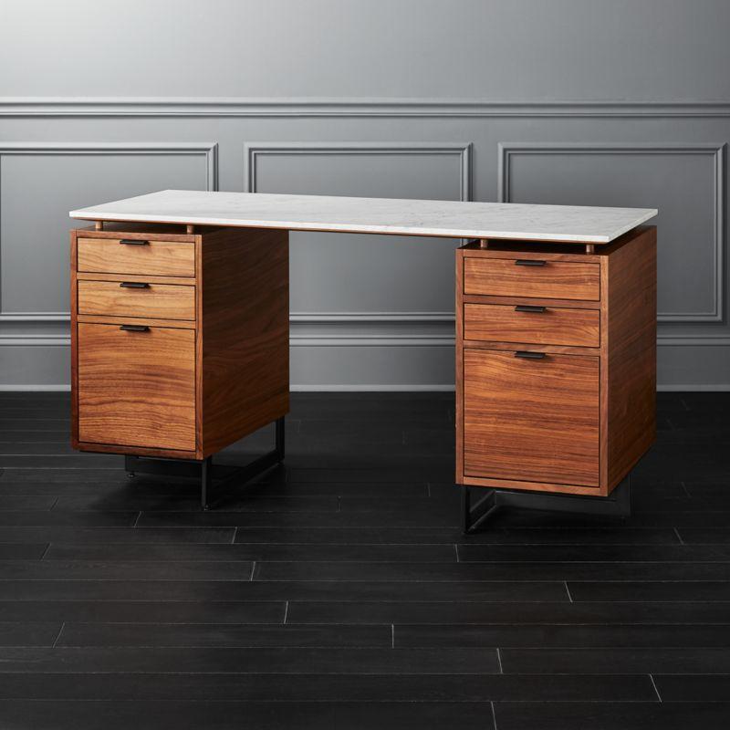 Fullerton Modular Desk With 2 Drawers Reviews Cb2 Modular Desk Cheap Office Furniture Modern Home Office Furniture