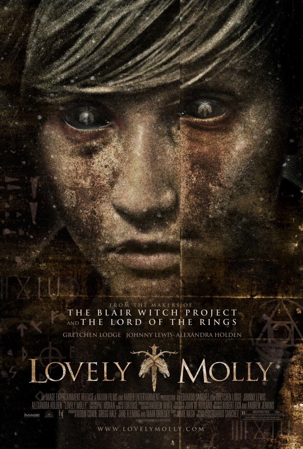 """From Bloody-Disgusting comes the creepy poster for """"Lovely Molly (2011)"""" by Eduardo Sanchez"""