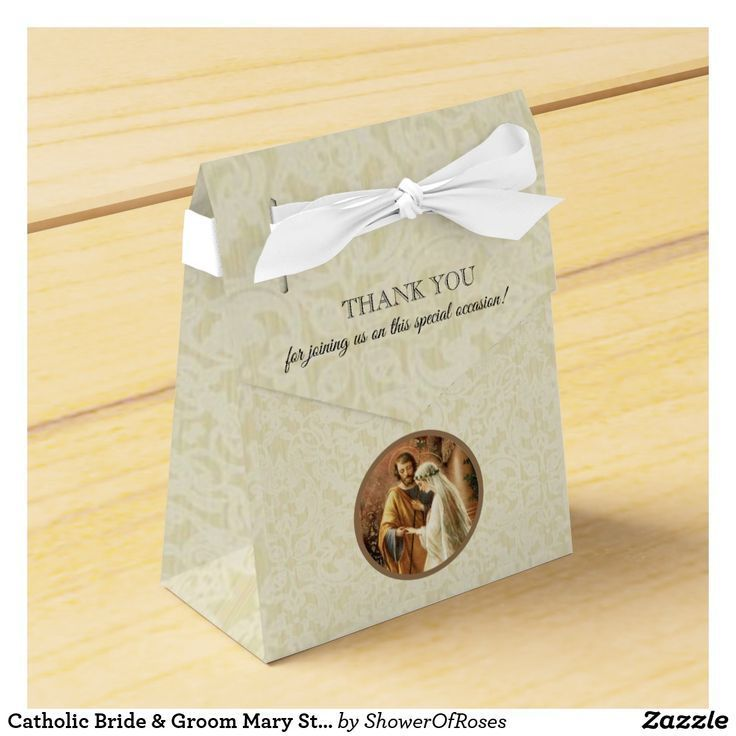 Catholic Bride & Groom Mary St. Joseph Marriage Favor Box