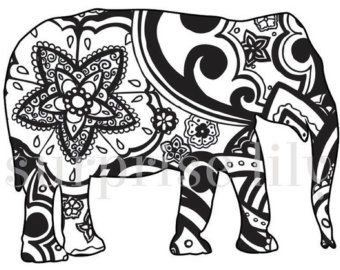 animal and pets floral coloring page book digital printable for adults and children zentangle henna designs