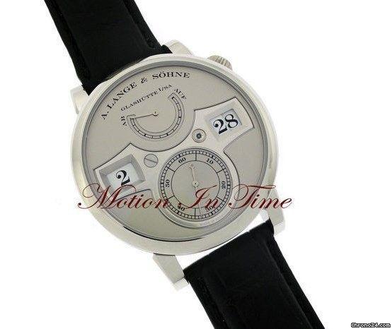 "A. Lange & Söhne Zeitwerk Platinum with Silver (""Stealth"") Dial Limited Edition 200 Piec"