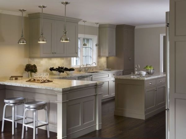 The essential points of kitchen cabinets light grey color for Grey kitchen paint ideas