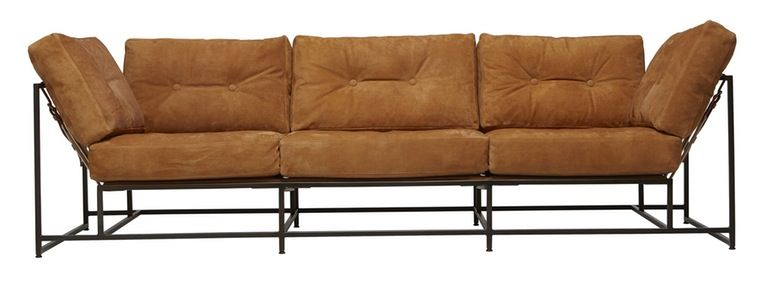 Stephen Kenn Truck Furniture Dirt Leather Sofa Contemporary, Industrial,  Leather, Metal, Sofa