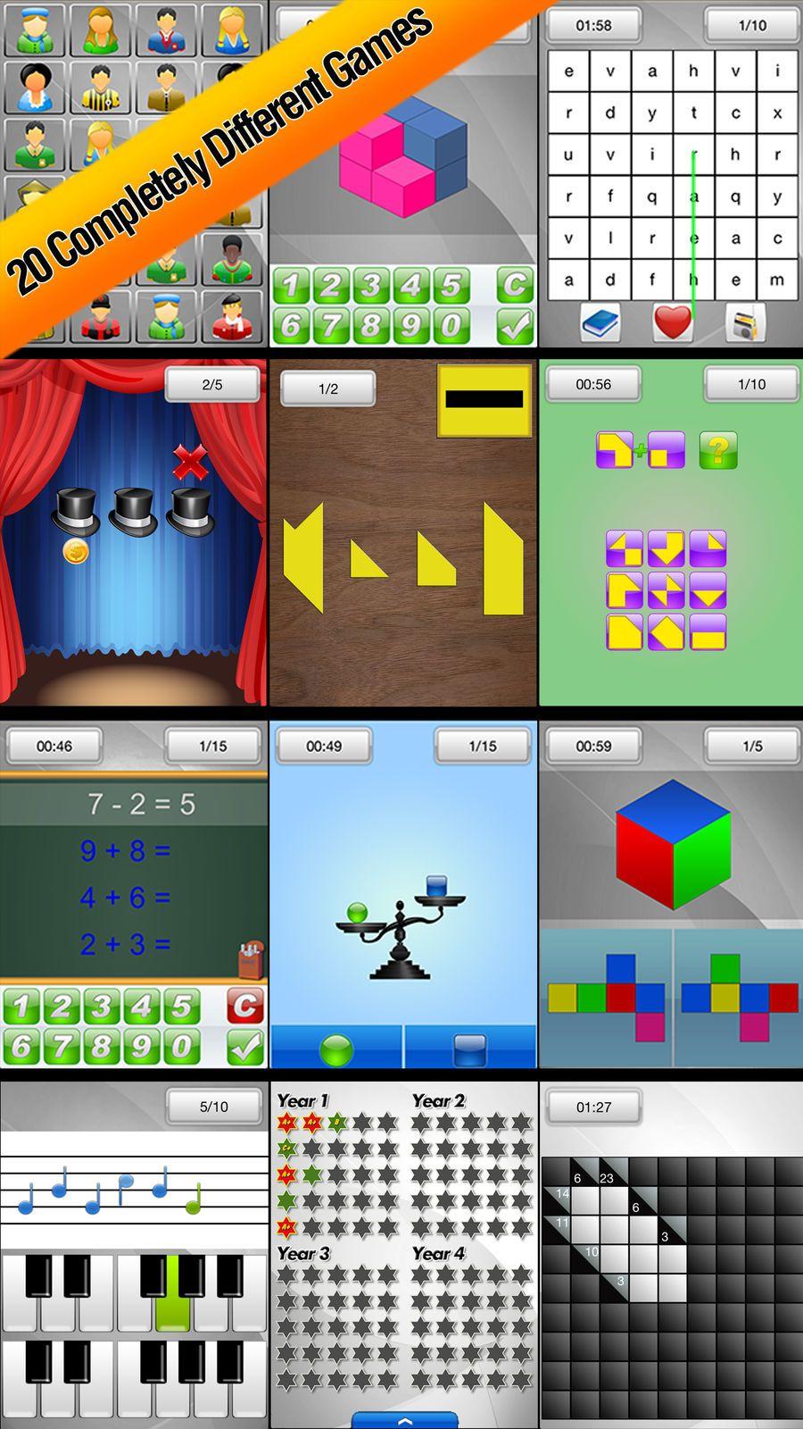 Brain School Training Games ampHealthFitnessWord