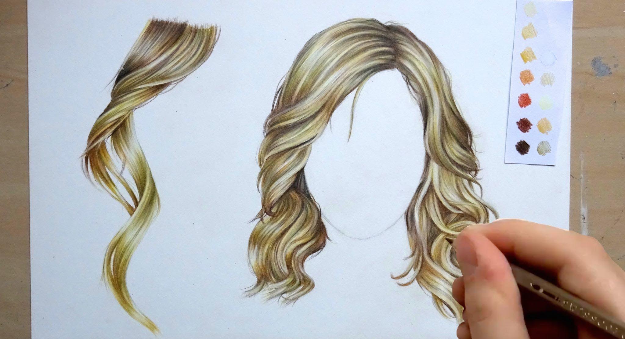 draw and colour hair pencil