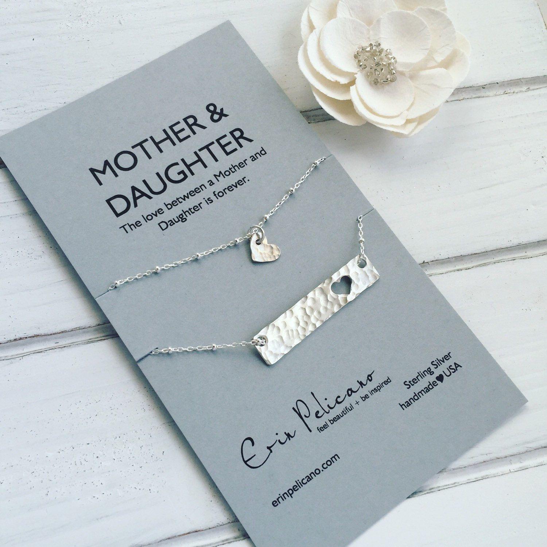 Mother Daughter Necklace Set Mom Daughter Gift Mom Necklace Set ...