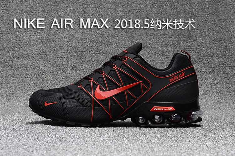 ff2b134272a 2018.5 Nike Air Max Hot Run Shoes Black Red For Men