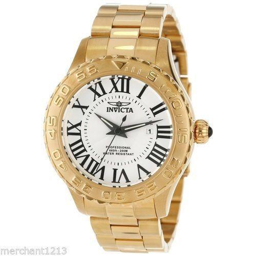 Invicta Men's 14379 Quartz 3 Hand Silver Dial Watch