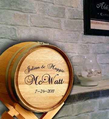 Personalized Wine Barrel Wedding Card Holder | Indigo & Plum ...