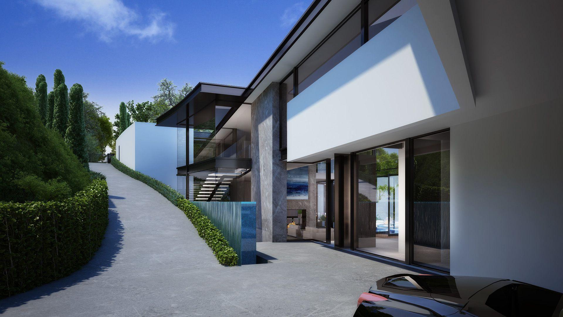 Appian House, Los Angles, 3D Visualisation - Luxury La -