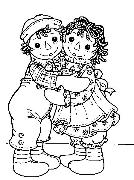 Raggedy Ann and Andy | Coloring pages | Pinterest | Raggedy ann, Ann ...