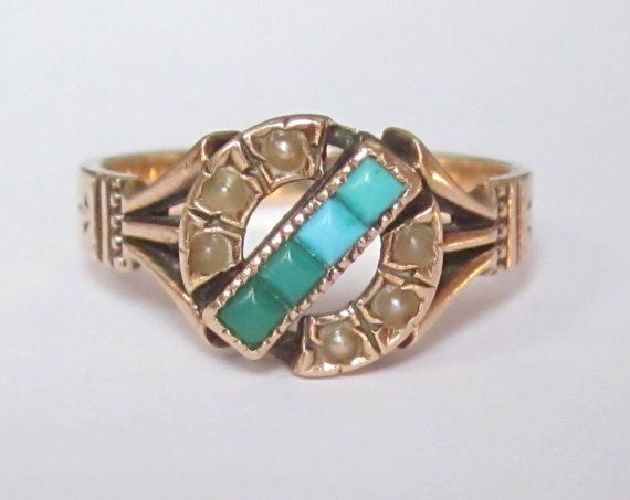 Antique Victorian Turquoise and Pearl Rose by magwildwoodscloset, $249.00
