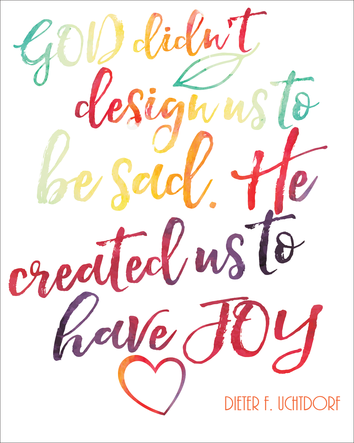 Lds General Conference April Free Printable Quotes