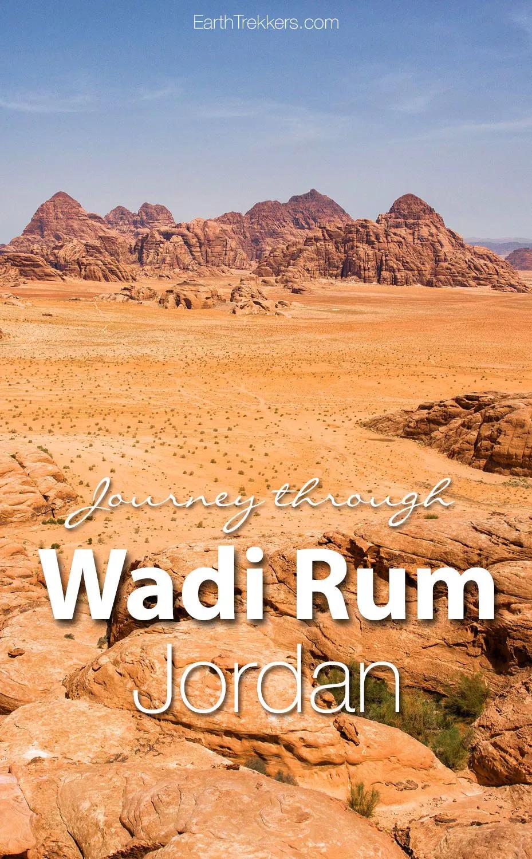 Journey Through the Wadi Rum Desert in Photos #traveltojordan