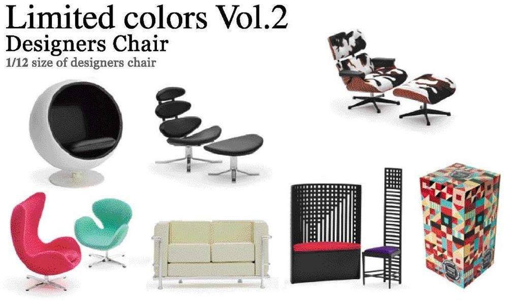 Reac Japan Design Interior Collection 1 12 Mini Designers Chair Limited Vol 2 Reacjapan Chair Design Design Ebay