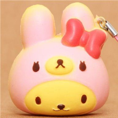 Squishy Bunny : Amazon.com: pink bear as bunny bread squishy cellphone charm: Toys & Games Kawaii Pinterest ...