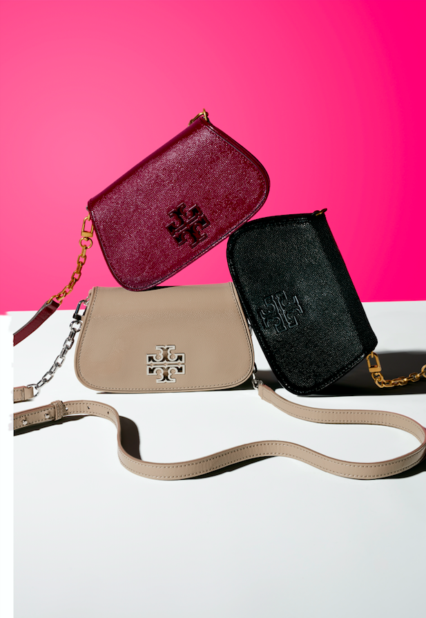 Keep all your essentials in these Tory Burch red, agate black and French  gray caviar