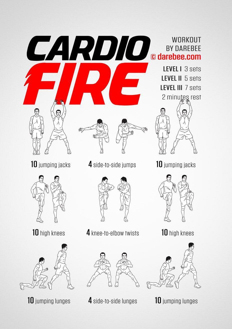 Cardio Fire Workout Ejercicios De Calistenia Ejercicios De Cardio Ejercicios De Entrenamiento