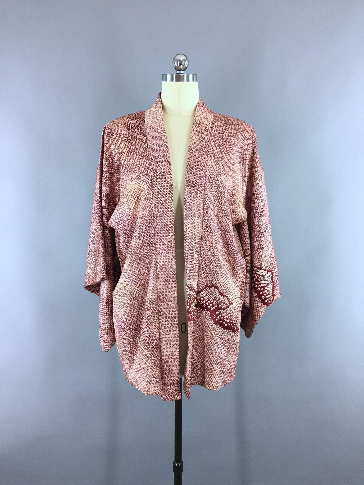 1960s Vintage Silk Kimono Jacket / Silk Haori Kimono Cardigan ...