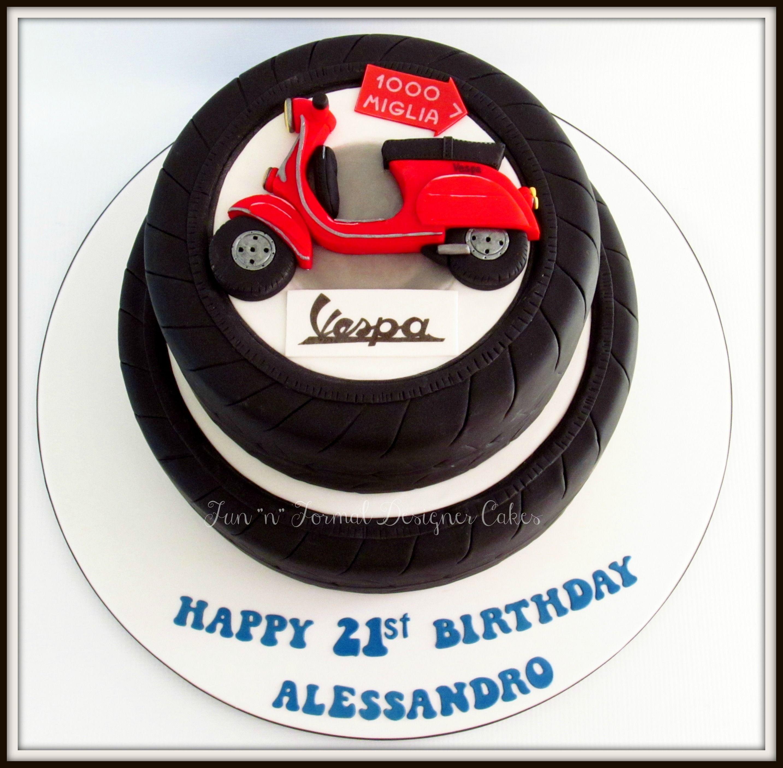 Vespa themed birthday cake Vespa Pinterest Vespa Birthday