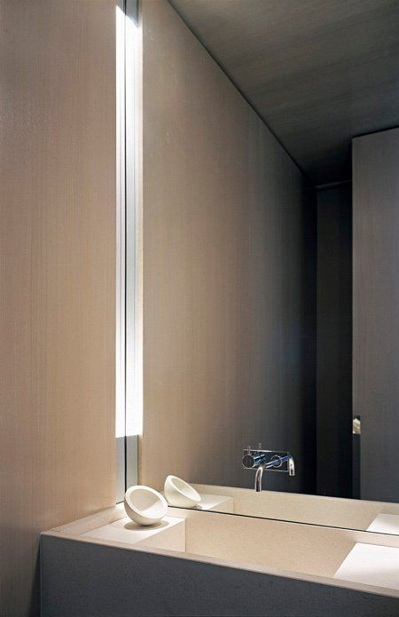 Vertical Niche Lighting Bathrooms Bathroom Bathroom