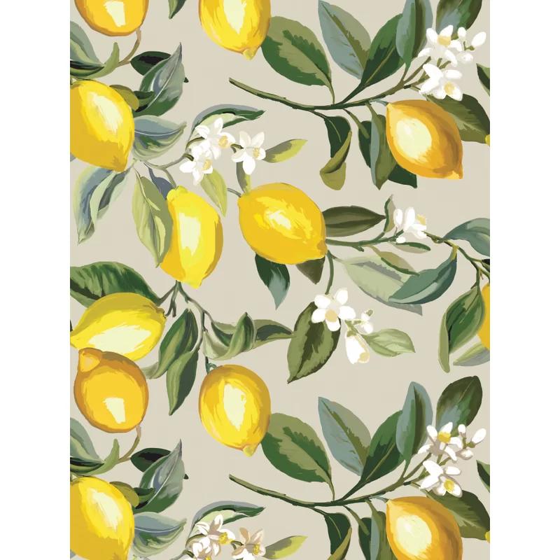 Gracie Oaks Militello Lemon Zest 18 86 L X 18 W Peel And Stick Wallpaper Roll Wayfair Peel And Stick Wallpaper Wallpaper Roll Wallpaper