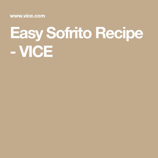 Easy Sofrito Recipe