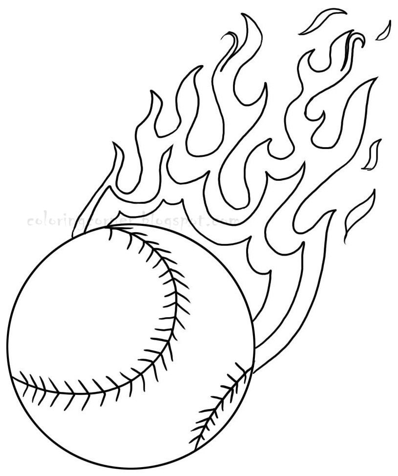 Baseball coloring page coloring for kids pinterest for Baseball coloring pages for kids
