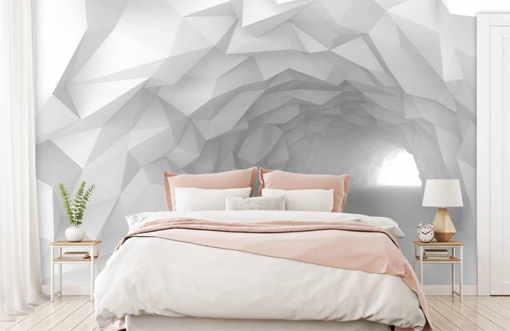Wonderlijk Puntige tunnel in 3D | Accentmuur slaapkamer, Slaapkamer LB-98