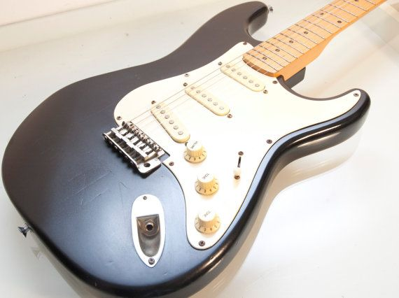 vintage black hondo strat electric guitar punk rock by daindain rh pinterest com Guitar Pickup Wiring Diagrams Guitar Coil Tap Wiring Diagrams