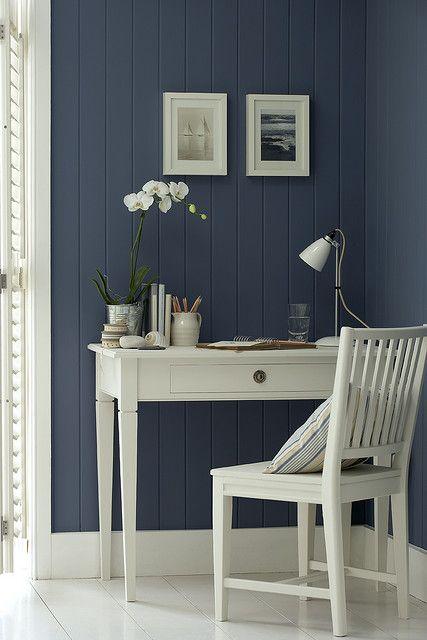 New England Wall Colours Style marin et couleur bleu  blanc