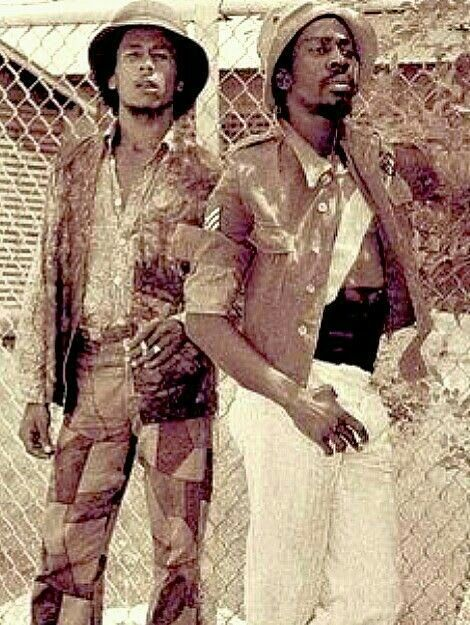 **The Wailers** Dynamic Sounds Studio's Yard of Byron Lee, Kingston, Jamaica, 1969. ►►More fantastic pictures, music and videos of *The Wailing Wailers/The Wailers→'74/Bob Marley&The Wailers & Robert Nesta Bob Marley* on: https://de.pinterest.com/ReggaeHeart/ ©Urbanimage.tv/ https://www.urbanimage.tv