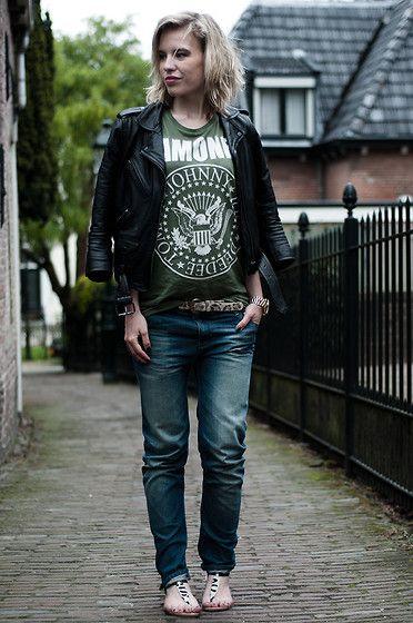 H Ramones Band Tee T Shirt Boyfriend Oversized Tank Top, The Sting ...